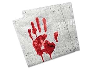 Servietten blutige Hände 20 Stk. 33x33cm