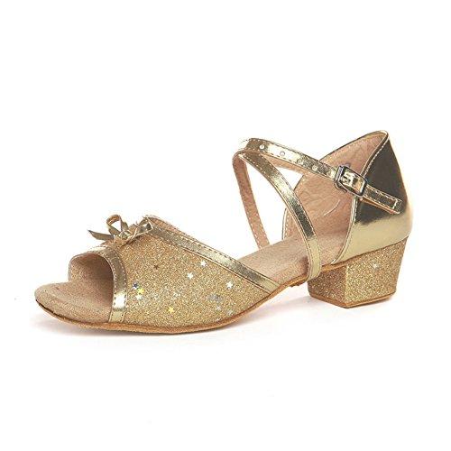 latino scarpe per bambini/ Lady shoes/Square dance scarpe per ragazze/ danza scarpa pratica J