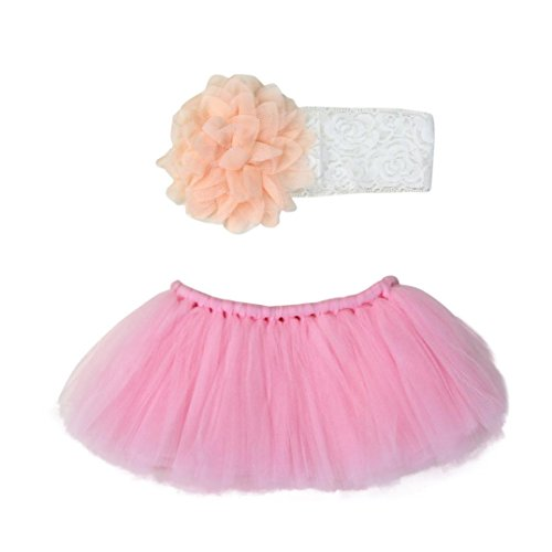 Set, Y56New Universal Baby Cute Neugeborene Infant Baby Junge Mädchen Tutu Rock Haarband Baby Outfit Fotografie Prop 0–4Monate (Zero Kostüm Für Babys)