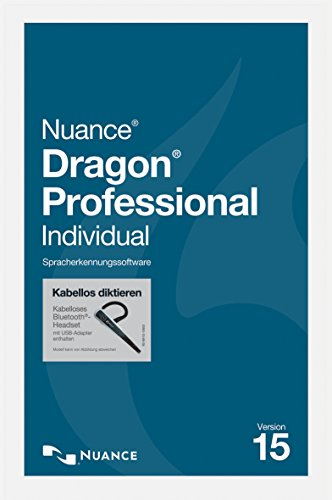 Nuance Dragon Professional Individual 15 / Wireless / Deutsch