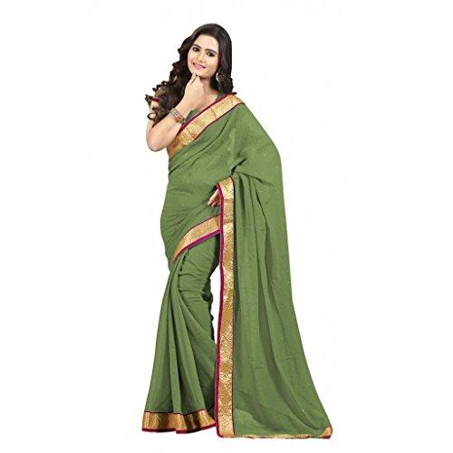 VINTAGE Girls cotton saree(VINTAGE O22_multi colour_Freesize)