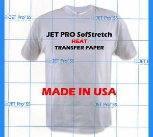 jet-pro Sofstretch Inkjet Heat Transfer Papier 8,5x 11-- 10Blatt -