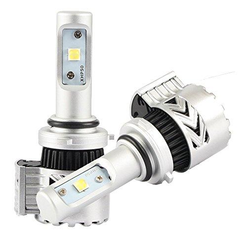 Diesel Auto 2x 9006 LED Autoscheinwerfer 6500K Weiße LED Scheinwerfer 72W 12000LM mit CREE Birnen Frontscheinwerfer Kit , 3 Yr Garantie