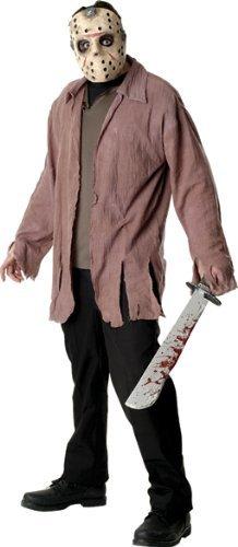 Horror Jason Kostüm mit Maske Und Messer für Erwachsene