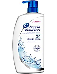 Head & Shoulders Classic Clean 2-in-1 Dandruff Shampoo and Conditioner, 1000 ml