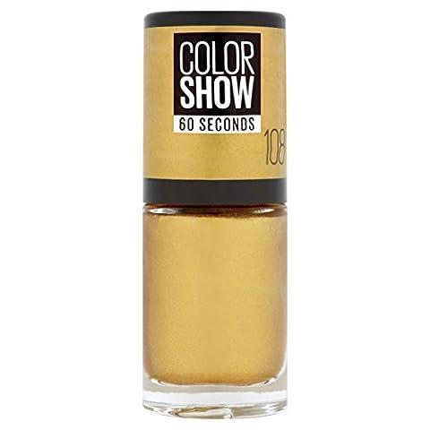 Gemey Maybelline Colorshow - Vernis à ongles -108 Golden Sand - Doré