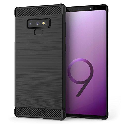 Caseflex Cover Samsung Galaxy Note 9, Custodia in Silicone in Fibra di Carbonio Testurizzata| Assorbi-urti Case | Protezione Leggera e...