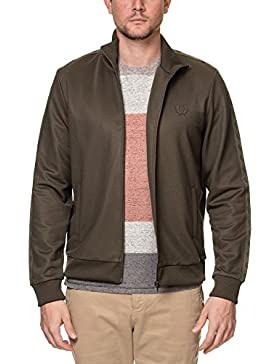 Fred Perry Men's Sports Authentic Men's Khaki Track Jacket