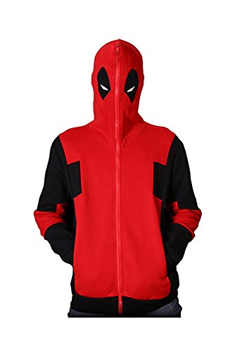 Deadpool Hoodie X-Men Jacke Kapuzenpullover Cosplay Kostüm Kult L