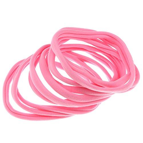 Damen-accessoires A Kirschrot Pink Funkelnd Weich Donut Haargummi Haarschmuck Bommel GüNstige VerkäUfe