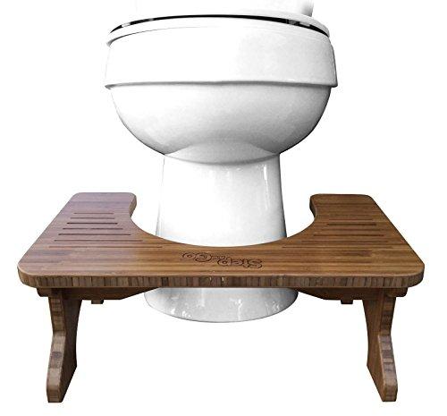 Step and Go® Bambus (17.8 cm und 23 cm) Toilettenstuhl für eine bessere Gesundheit …