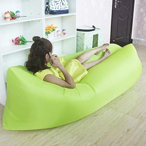 HiXB Air Sofa Wasserdichtes Luftsofa Transportabler Air Lounger mit Tragebeutel Zum Schlafen im Freien im Innenbereich Aufblasbarer Sitzsack,Colore