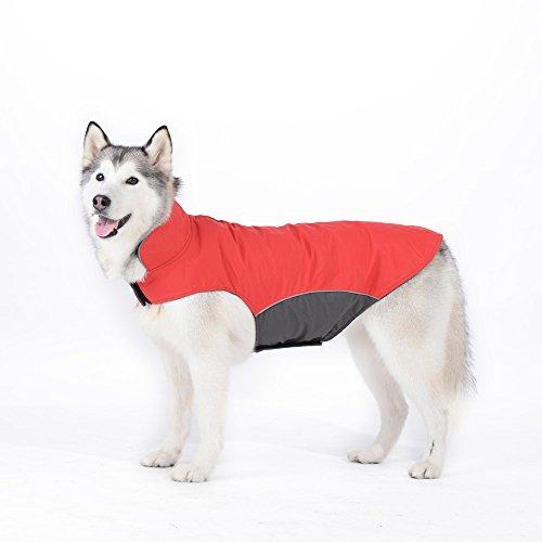 Tuopuda Mascotas Ropa Perro Grande medianos Invierno Calentar Clothes para medianos Grande Perros (5XL, Rojo)