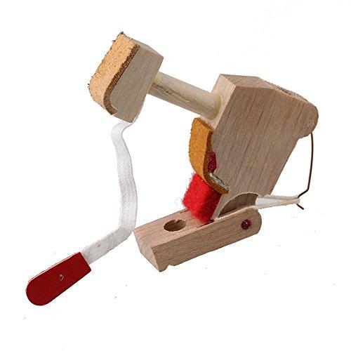 Yibuy madera color profesional martillo cabeza herramienta
