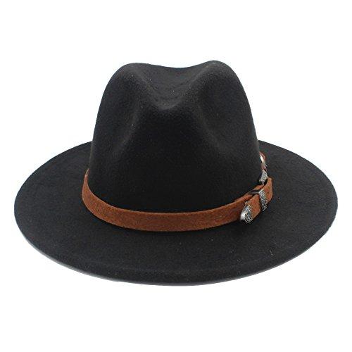 LQQGXL Laine Femmes Hommes Fedora Chapeau Lady Hiver Automne Godfather Sombrero Caps Chapeau 3