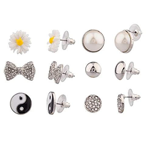 Lux Accessories - Ensemble Boutons D'Oreilles Women'S Girls & Kids