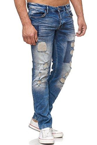 TAZZIO Herren Jeans Hose 17507 Blau