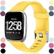 HUMENN Compatibel voor Fitbit Versa Bandje/Fitbit Versa 2 Bandje, Klassieke Verstelbare Vervangende Sportarmband voor Fitbit