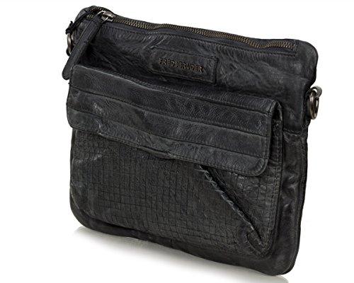 FREDsBRUDER Mixology épaule Sac Clutch dames de cuir Vintage (25 x 20 x 4 cm) Dark Grey (Gris)