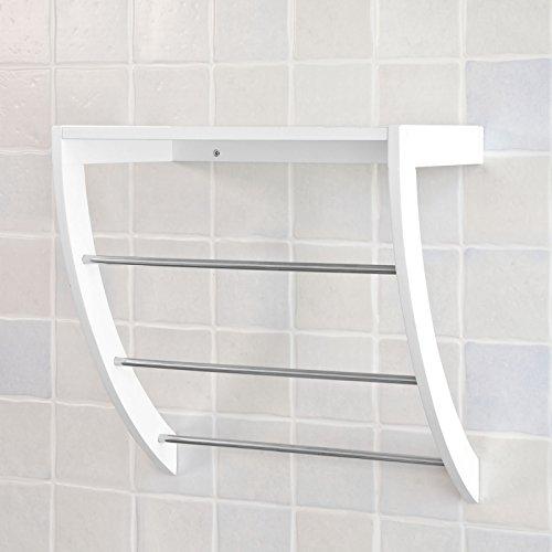 SoBuy® Estanteria de baño de MDF, Estantes de pared, Armario suspendido, FRG47-W, ES