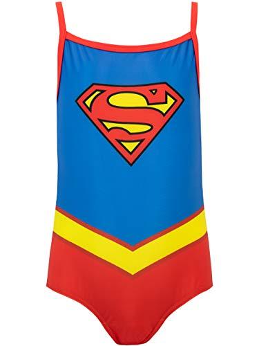 DC Comics Mädchen Supergirl Badeanzug Blau 116