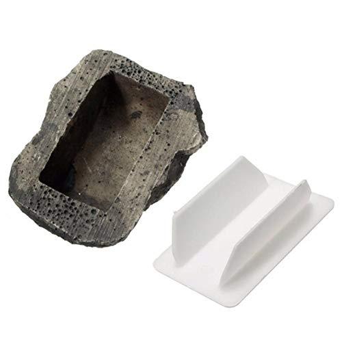 Augneveres Schlüssel Stein Schlüsselversteck in Stein-Optik Schlüsselversteck Stein für den Ersatzschlüssel Schlüssel versteck Stein für Ersatzschlüssel außen, Geheimversteck