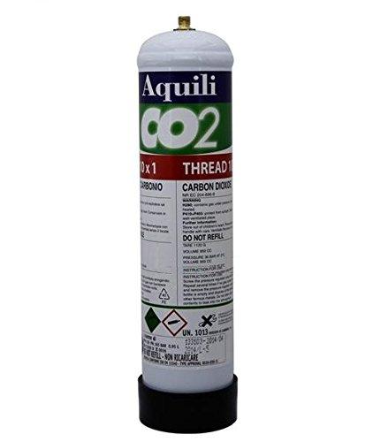 Aquili Co2 Bombola usa e getta Passo 10x1 - Ricambio monouso diossido di carbonio per impianto CO2, non ricaricabile