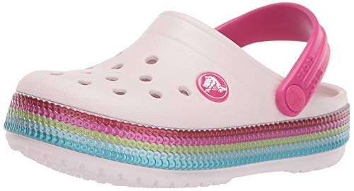 Crocs Kids Flip Flop (crocs Unisex-Kinder Crocband Sequin Band K Clogs, (Barely Pink 6pi), 32/33 EU)