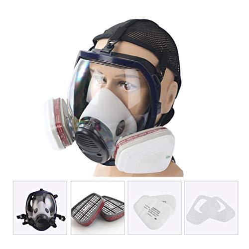 WEISHAZI kit de respirador facial de cara completa máscara de gas para pintar spray Pesticida Protección contra incendios químicos