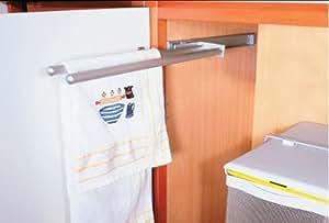 Porte torchons / serviettes 2 branches BLANC