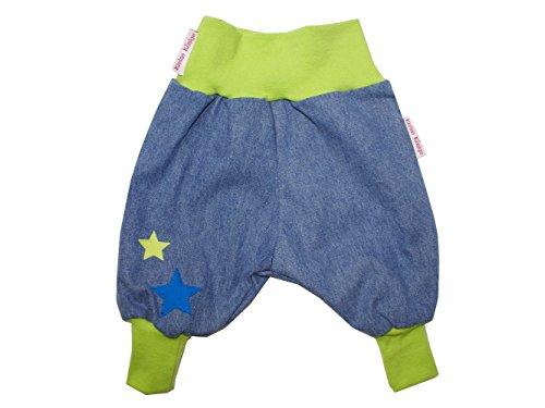 """Baby Jeanshose """"Stars"""" lemon Gr. 62 - 104 von Kleine Könige Größe 98/104, Farbe petrol"""