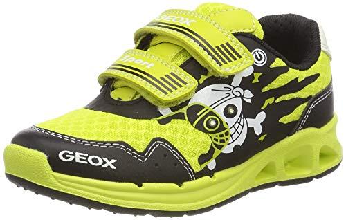 Geox J Dakin Boy B, Scarpe da Ginnastica Basse Bambino, Giallo (Lime/Black C3707), 25 EU