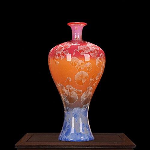 Vases LXF en céramique gouttelettes d'eau Glaze Beauty Bottles Bougie en Fleurs séchées Creative Home (Size : D)