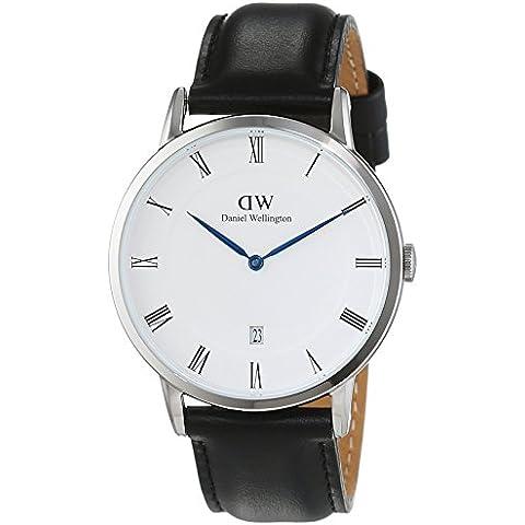 Daniel Wellington 1121DW - Reloj con correa de acero para hombre, color blanco / gris