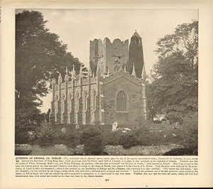 Moonlizard Church At Swords Co Dublin : 114 Years Old Antique Print (1898) 5748