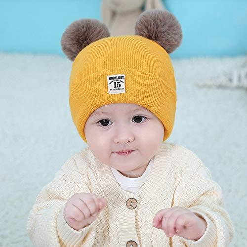 Xme Säuglingsbaby-warme Mütze, weibliche Babywollkappe, Verdickungskappe der Kinder