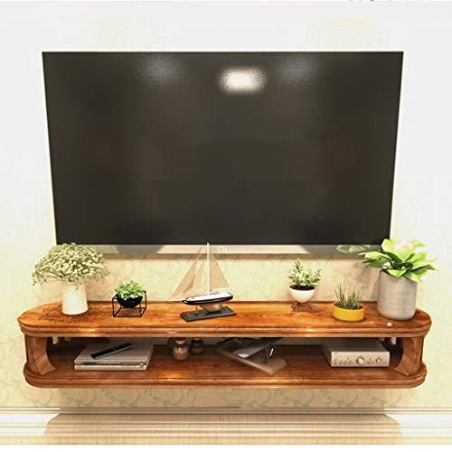 LTJTVFXQ-shelf An der Wand montiert Schwimmend Aufbewahrungsregal TV-Konsole Fernsehtisch zum Kabelbox Router Fernbedienung DVD Spieler (Farbe : Brown(82cm))