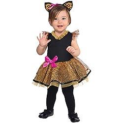 New Amscan Bebé Halloween Cutie Para Niñas Cat Fancy Dress Disfraz Orejas & Diadema