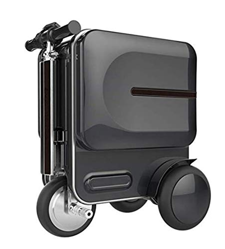 AIURBAG Maleta De Viaje Eléctrica Bicicleta, Plegable Electric Smart Coche De Equipaje para El Aeropuerto Y La Escuela,BBLACK