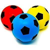 Lot de 3(20cm) en mousse souple e-deals éponge intérieur ou extérieur football Ball Ballon de football–(3couleurs différentes)