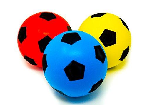 E-Deals - Pack 3 pelotas esponja deportes interior