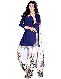 A K Designer Women's Chiffon Dress Material (Mehak1018_Free Size_Multi-Coloured)