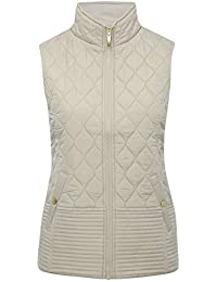 M&Co Ladies Sleeveless Zip Fastening Padded Quilted Funnel Neck Gilet Jacket