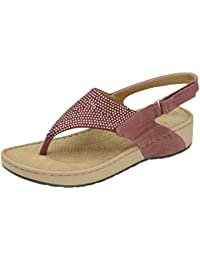 f123db34e8d Dunlop Ladies Women Low Wedge Heel Slingback Cushioned Sandals Slippers  Mule Shoes