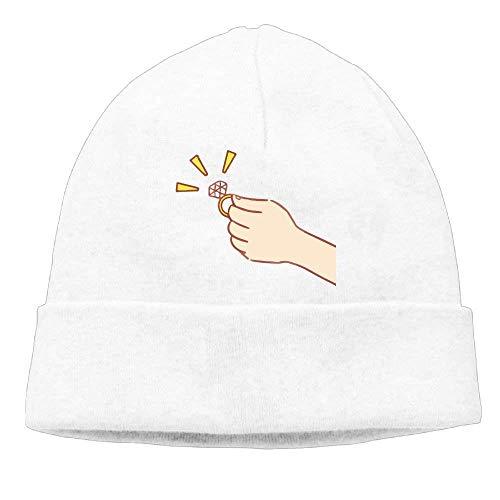 Men s Diamond Ring Marry Me Warm Skiing Black Beanies Tough Headwear 69b28c1b1a85