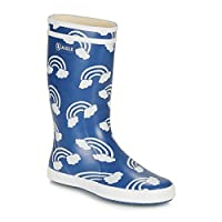 Aigle Lolly POP Print Boots Child Blue/Multicoloured Wellington Boots