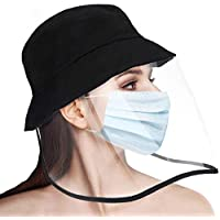 Anti-Saliva Protective Cap Windproof Full Face Shields Anti-dust Head Protector Stylish Fisherman Hat (Adult)