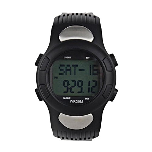 familizo-waterproof-fitness-3d-pedometer-calories-counter-sport-watch-pulse-heart-rate-monitor-black