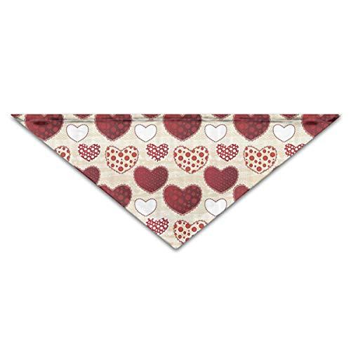 Osmykqe Cute Pop Art HeartsDog Birthday Pet Bandana Collars for Dogs and Cats - Amerikanischen Pop-art