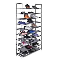 The Hanger Store 3, 5 or 10 Tier Shelf Shoe Storage Rack Organiser...